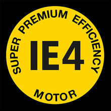 Super premium efficiency IE4 Logo